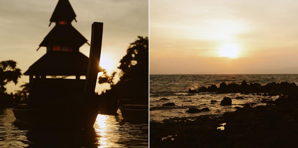 Thailand Gegenlicht Strand