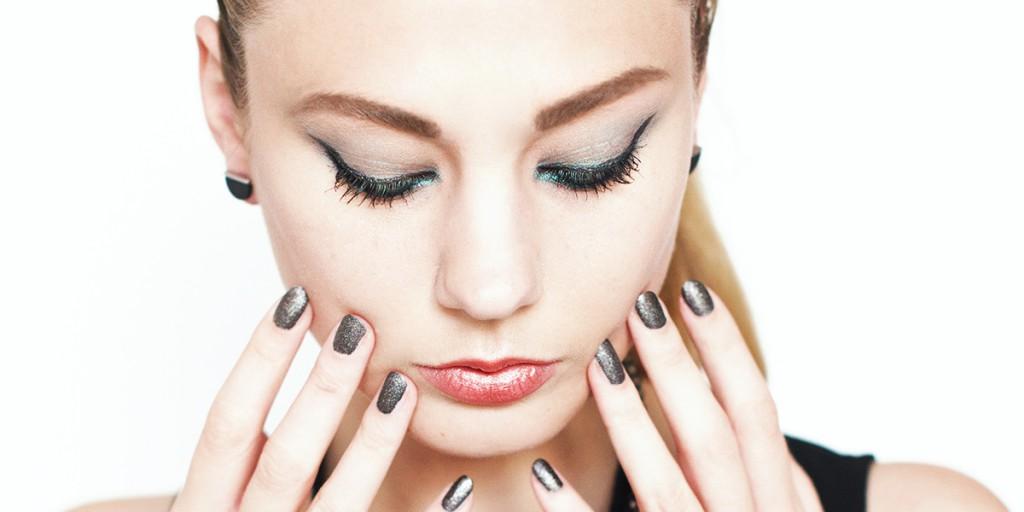 Metallic Make-Up mit Avon Kosmetik
