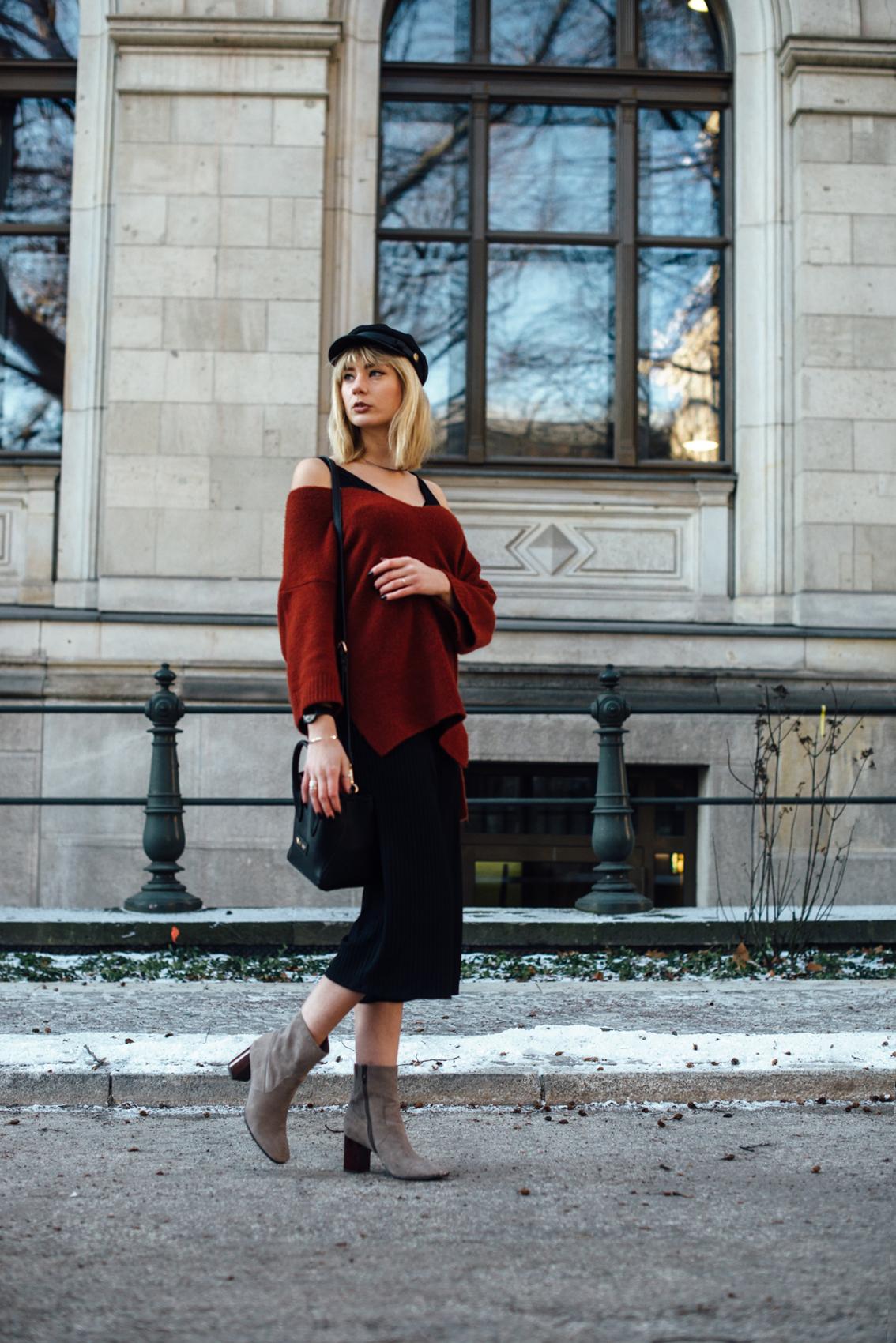 04-Kiamisu-Modeblog-Fashion Week Berlin_Shearling Jacke_Tamaris Stiefeletten_Schiebermütze-14