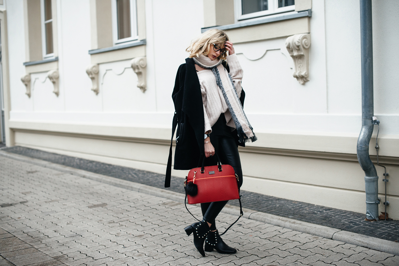 Kiamisu_Modeblog_Pauls Boutique rote Tasche_Hm Pullover rosa_Smukett Uhr schwarz-15