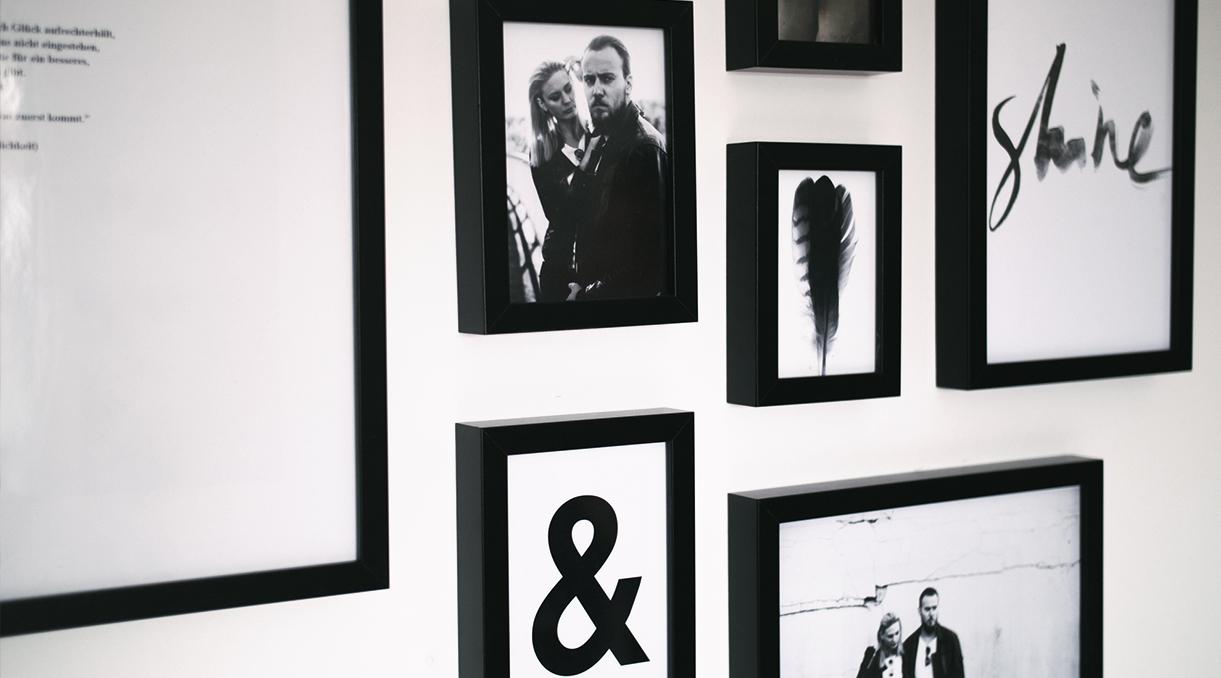 Minimalistisch wohnen schwarz wei poster als dekoelement for Minimalistisch werden