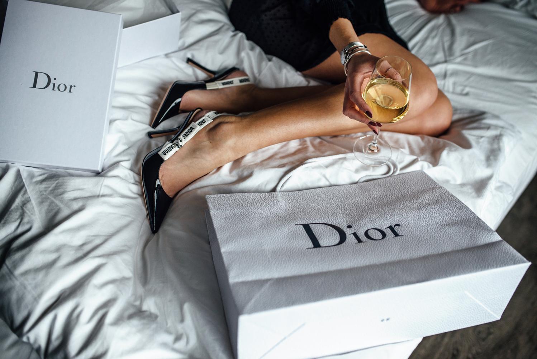 Dior Slingback Pumps mit J'adior Band